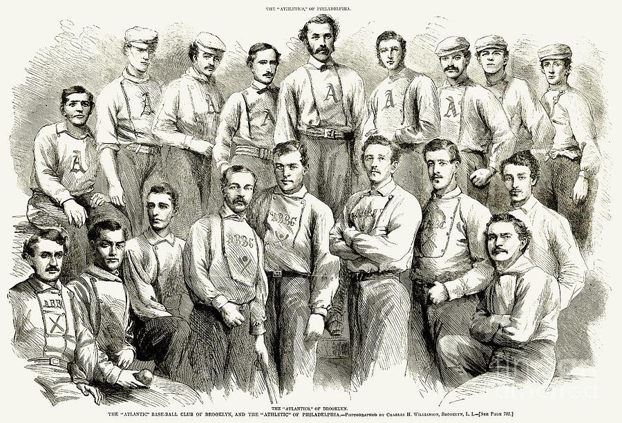 1866 Photograph - Baseball Teams, 1866 by Granger