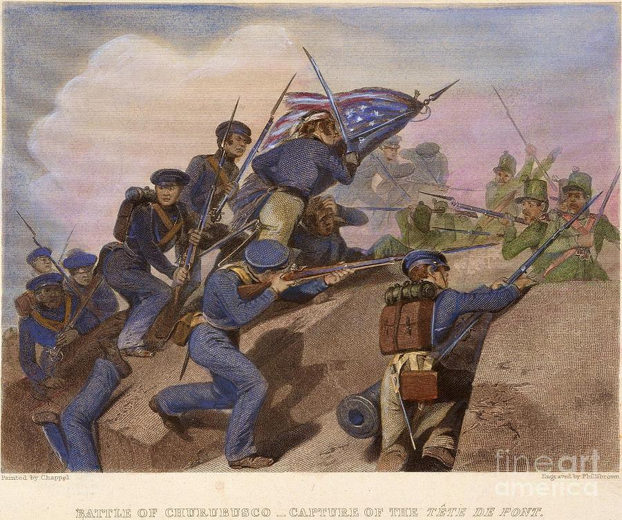 1847 Photograph - Battle Of Churubusco, 1847 by Granger