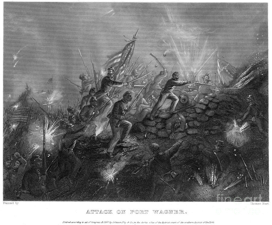 Battle Of Fort Wagner, 1863 Photograph by Granger