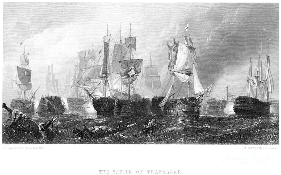 1805 Photograph - Battle Of Trafalgar, 1805 1 by Granger
