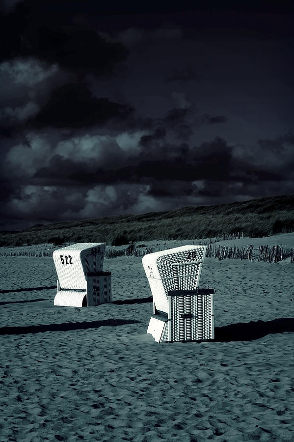 Dune Photograph - Beach Chairs by Joana Kruse
