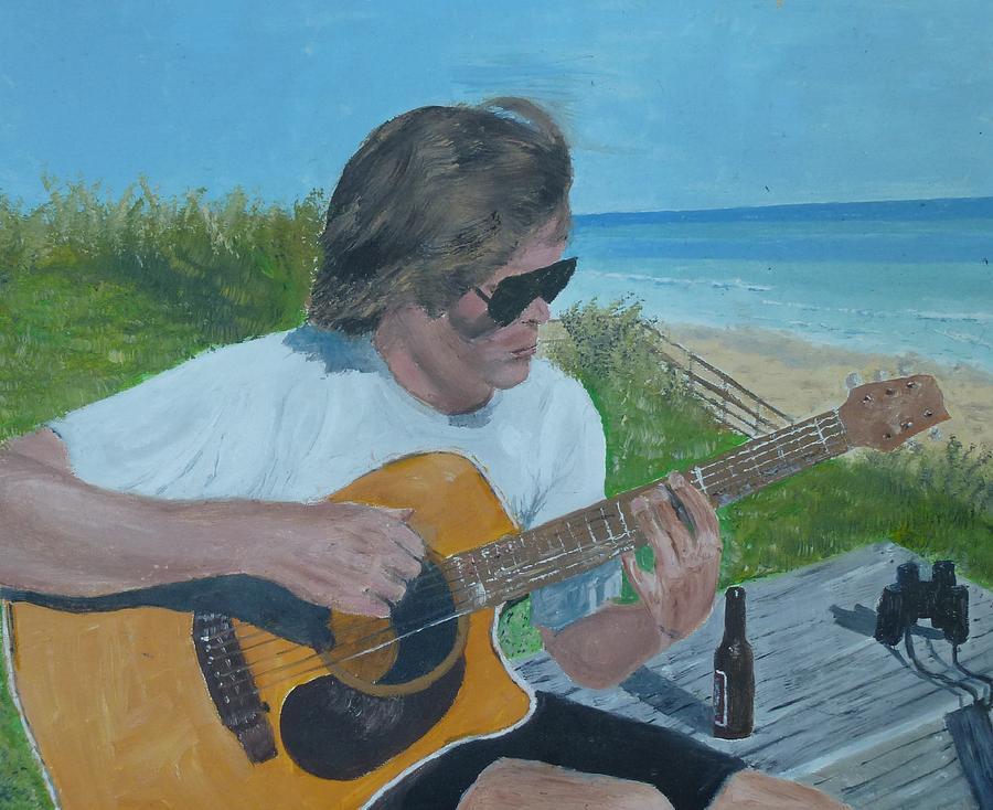 Beach Painting - Beach Music by John Terry