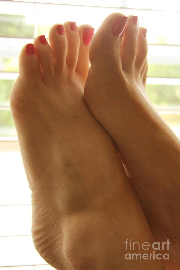 Feet Photograph - Beautiful Feet by Tos Photos