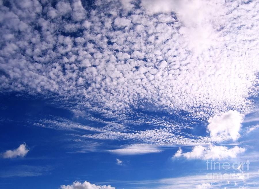 Sky Photograph - Beautiful Sky And Cloud Formation by Yali Shi