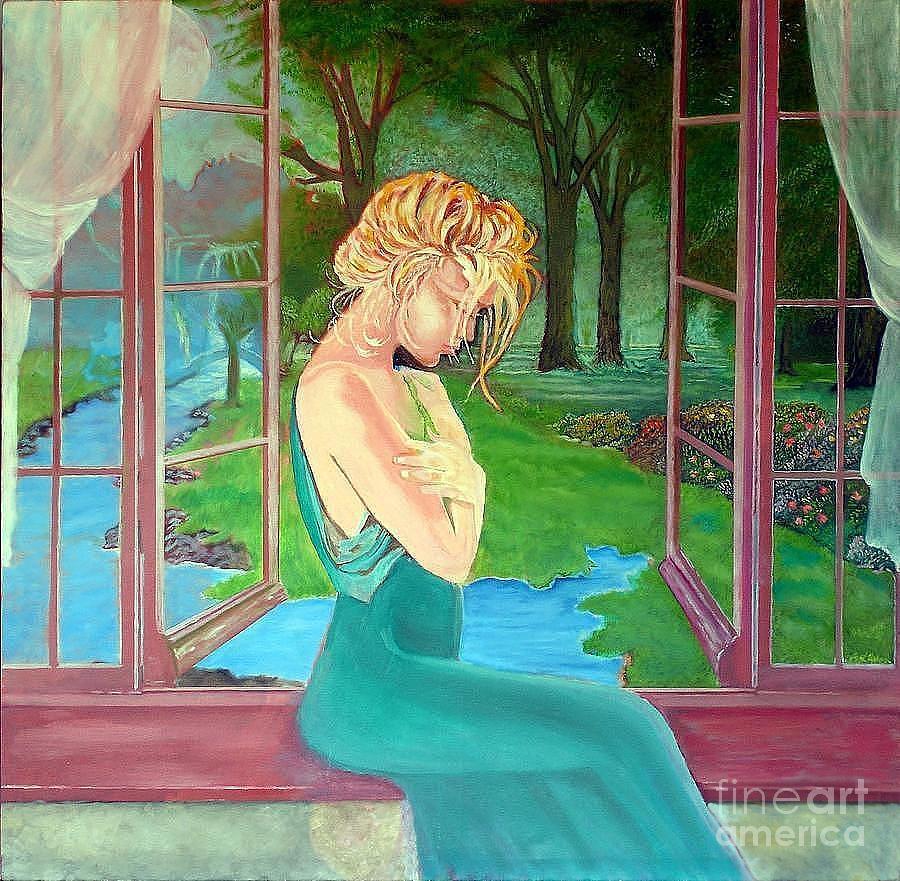 Woman Painting - Beautiful Woman by Kostas Dendrinos