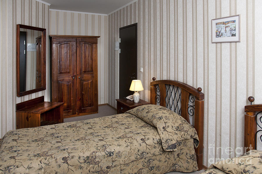 Armoire Photograph - Beds In Hotel Room by Jaak Nilson