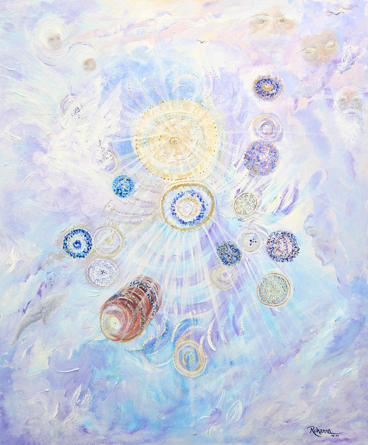 Angels Painting - Beings Of Light by Judy M Watts-Rohanna
