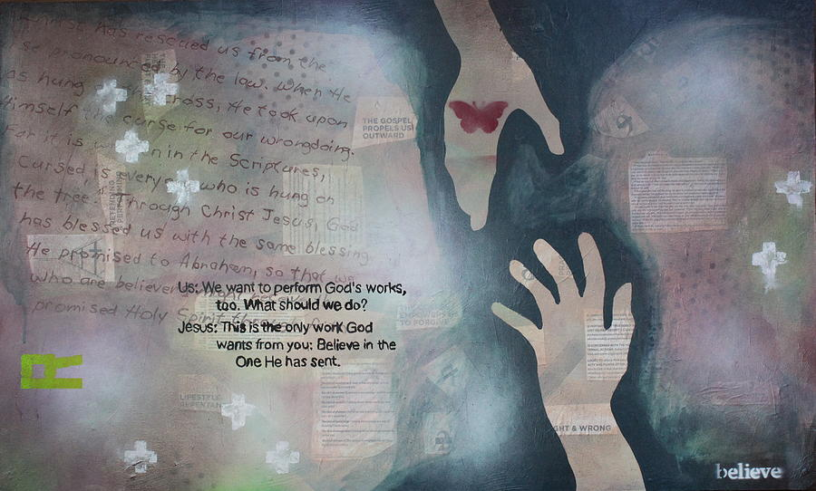Christian Painting - Believe in R by W  Todd Durrance