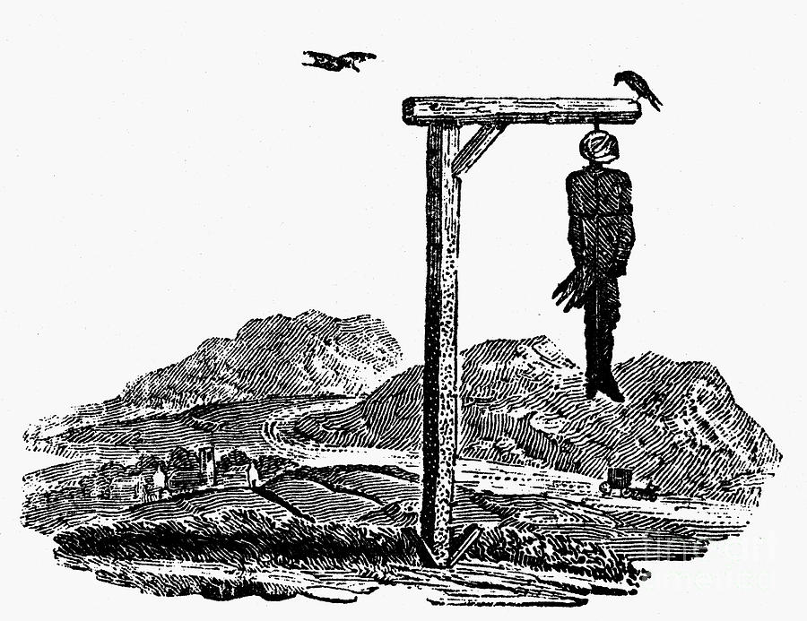 19th Century Photograph - Bewick: Hanged Man by Granger