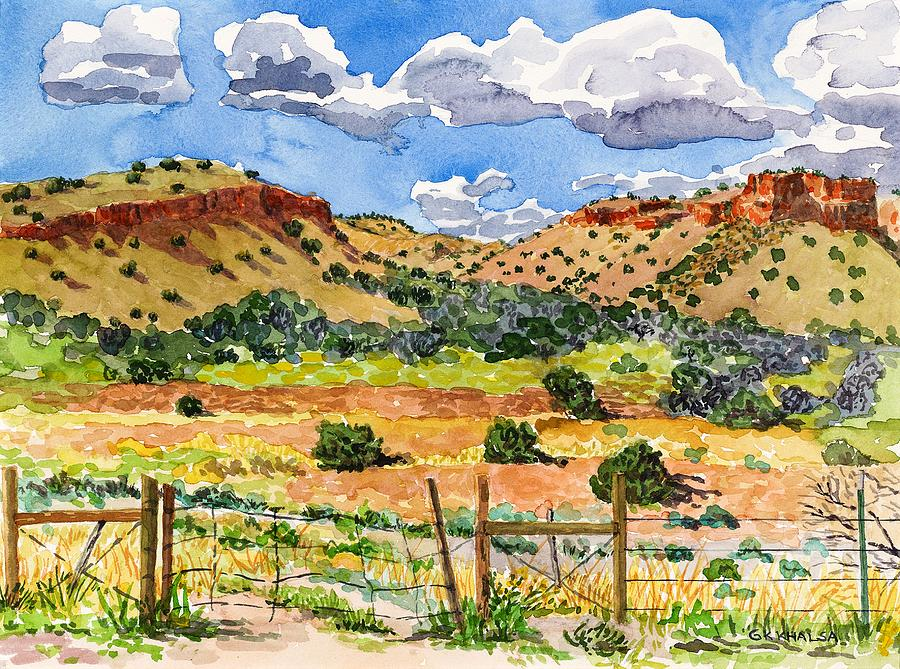 New Mexicao Painting - Beyond Ojo Caliente by Gurukirn Khalsa