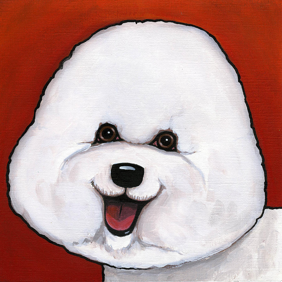Dog Painting - Bichon Frieze by Leanne Wilkes