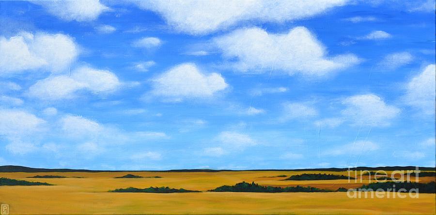 Prairie Painting - Big Sky Prairie by Holly Donohoe
