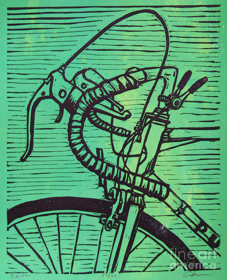 Print Drawing - Bike 2 by William Cauthern