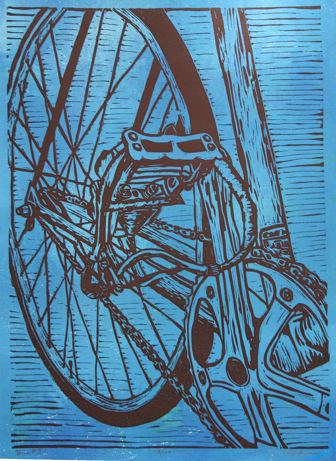 Bike Drawing - Bike 3 by William Cauthern