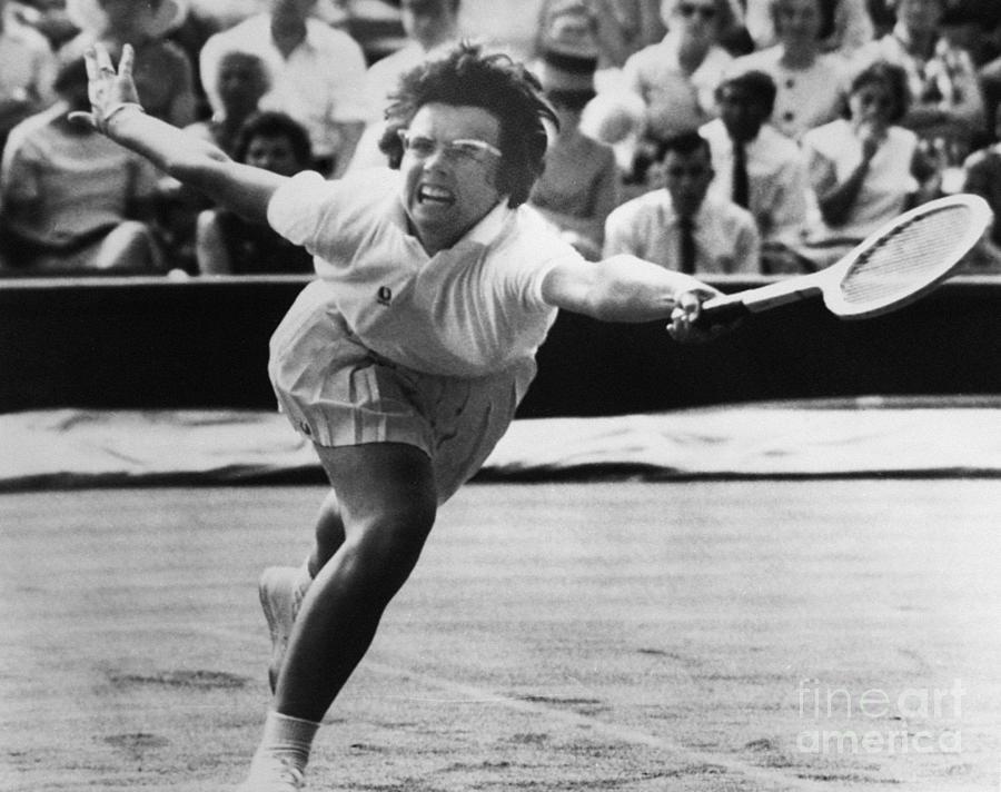 1965 Photograph - Billie Jean King (1943- ) by Granger
