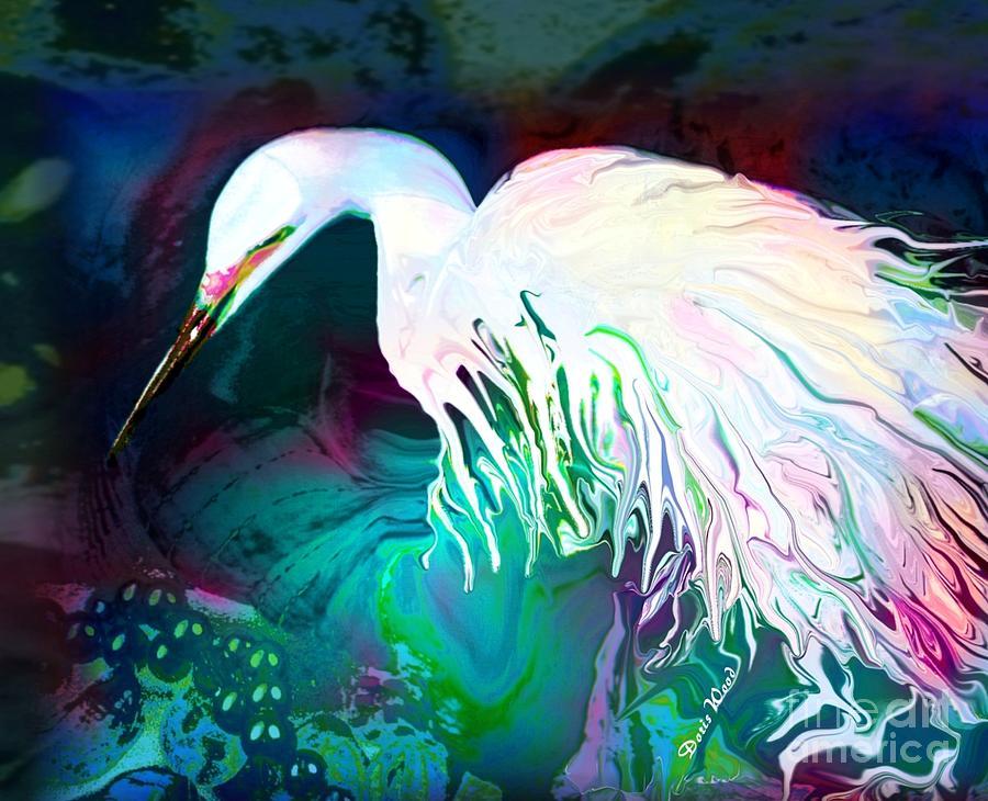 Tropical Bird Digital Art - Bird Of Paradise by Doris Wood