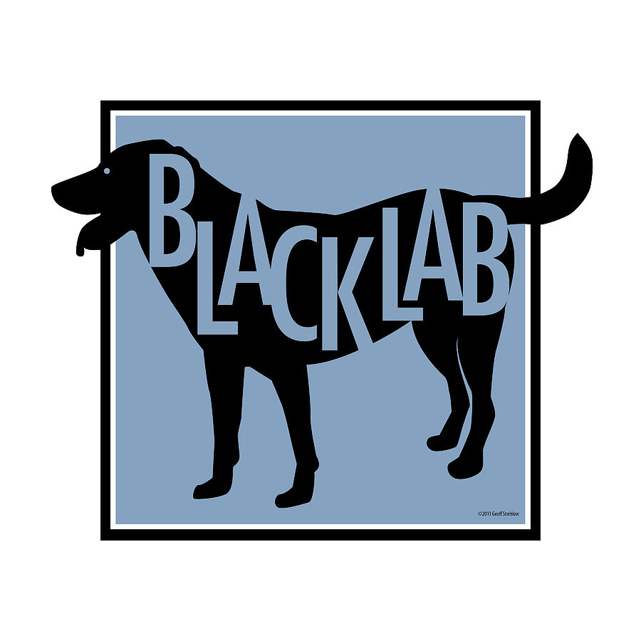 Black Labrador Lab Retriever  Digital Art - Black Lab by Geoff Strehlow