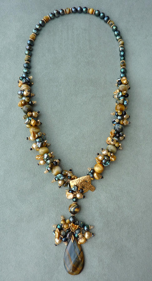 Pearls Jewelry - Blonde Tigereye Necklace by Marta Eagle