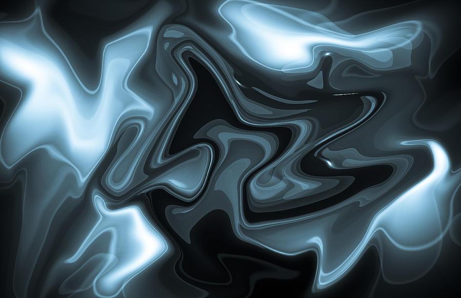 Digital Digital Art - Blue Abstract by David Pyatt