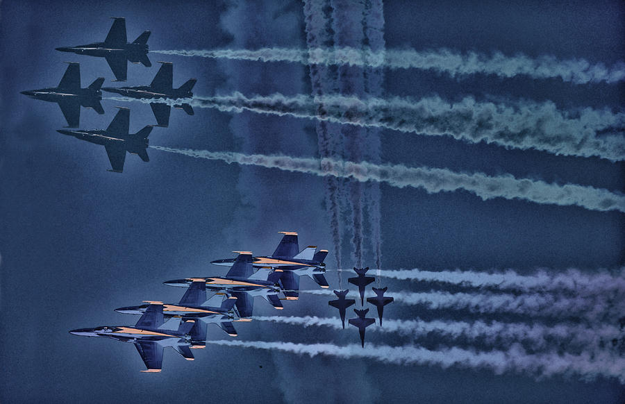 Blue Angels Photograph - Blue Angels by Kelly Reber