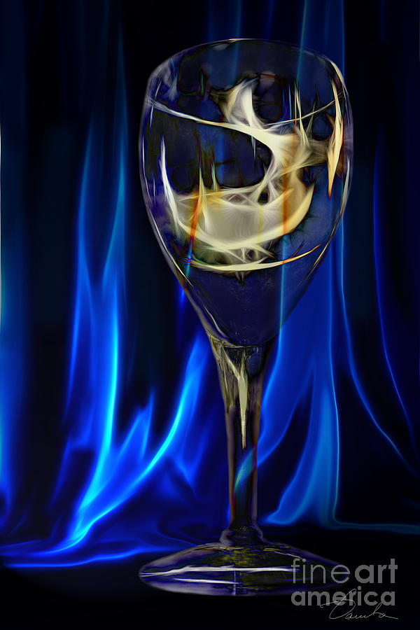 Wine Glass Photograph - Blue Compliments Me  by Danuta Bennett