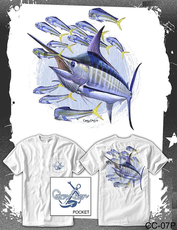 Marlin Digital Art - Blue Marlin by Carey Chen