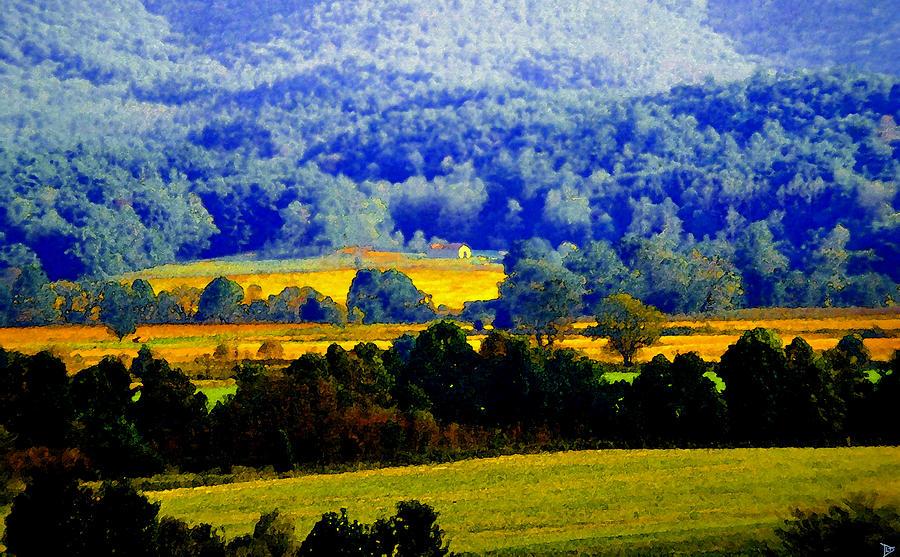 Artwork Painting - Blue Ridge by David Lee Thompson