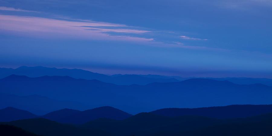 Blue Photograph - Blue Ridge Panorama by Andrew Soundarajan