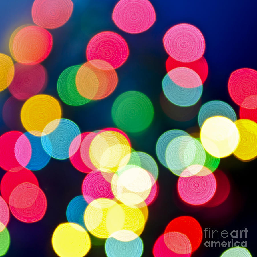 Blurred Photograph - Blurred Christmas Lights by Elena Elisseeva