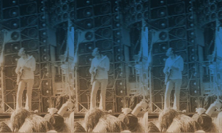 Seven Photograph - Bob Weir Grateful Dead 74 Dsm Ia by Tim Donovan