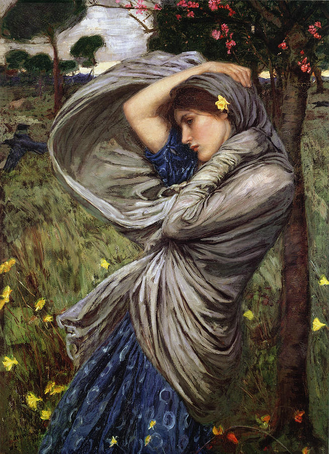 Spring Painting - Boreas by  John William Waterhouse