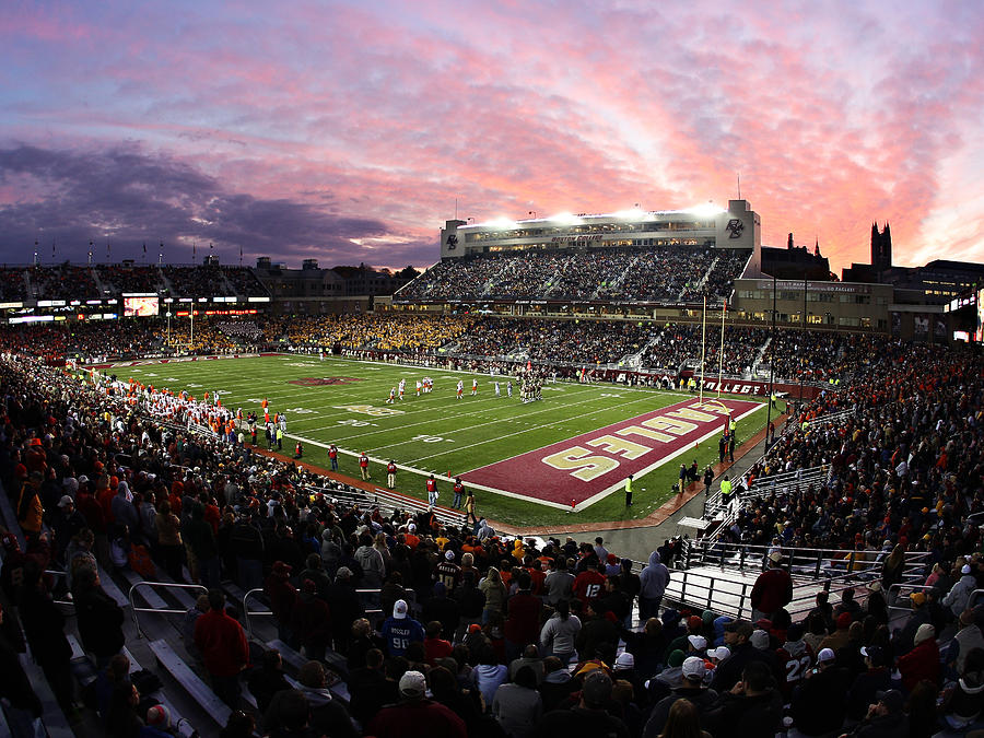 Alumni Stadium Photograph - Boston College Alumni Stadium by John Quackenbos