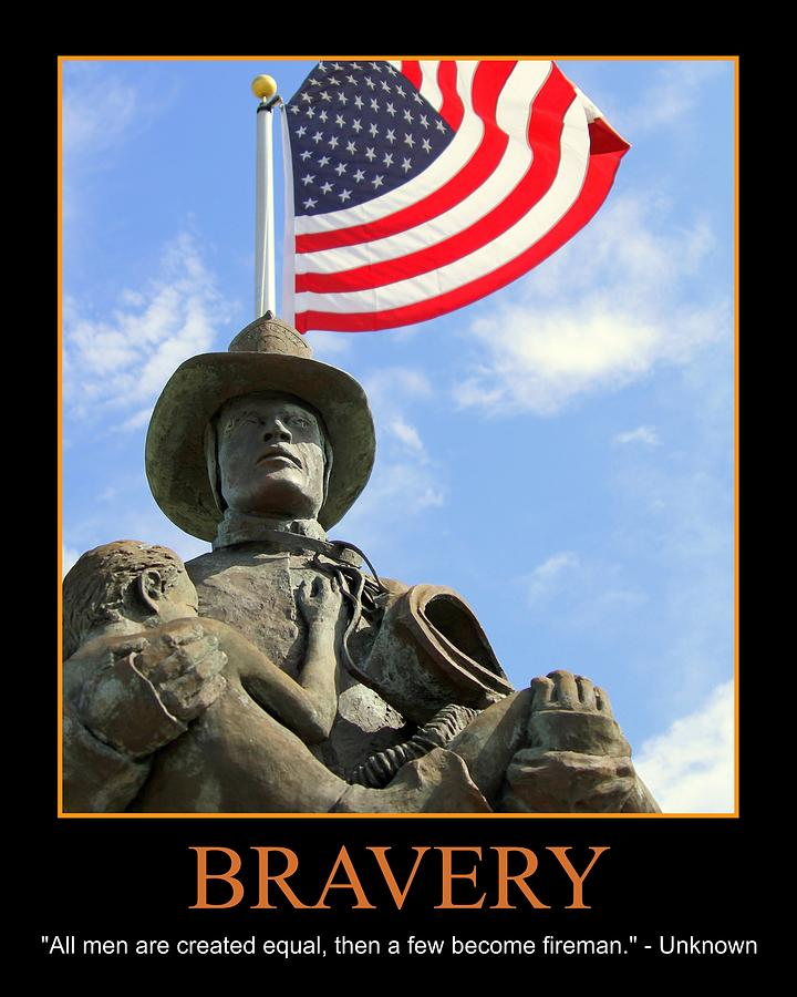 Bravery Photograph - Bravery by PMG Images