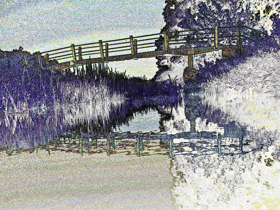 Bridge Digital Art - Bridge Across The River by David Pyatt