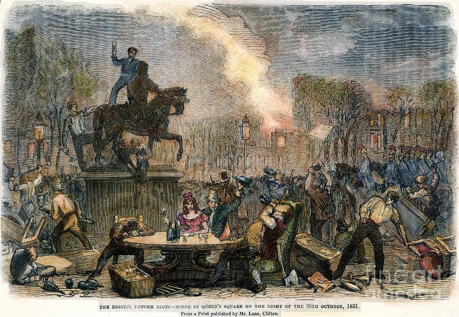 1831 Photograph - Bristol: Reform Riot, 1831 by Granger