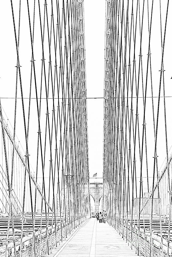 Brooklyn Bridge Photograph - Brooklyn Bridge by Alan Clifford