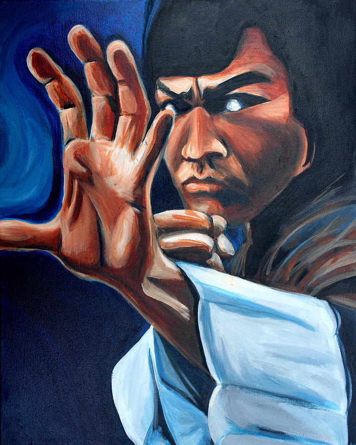 Bruce Lee Painting by Kate Fortin