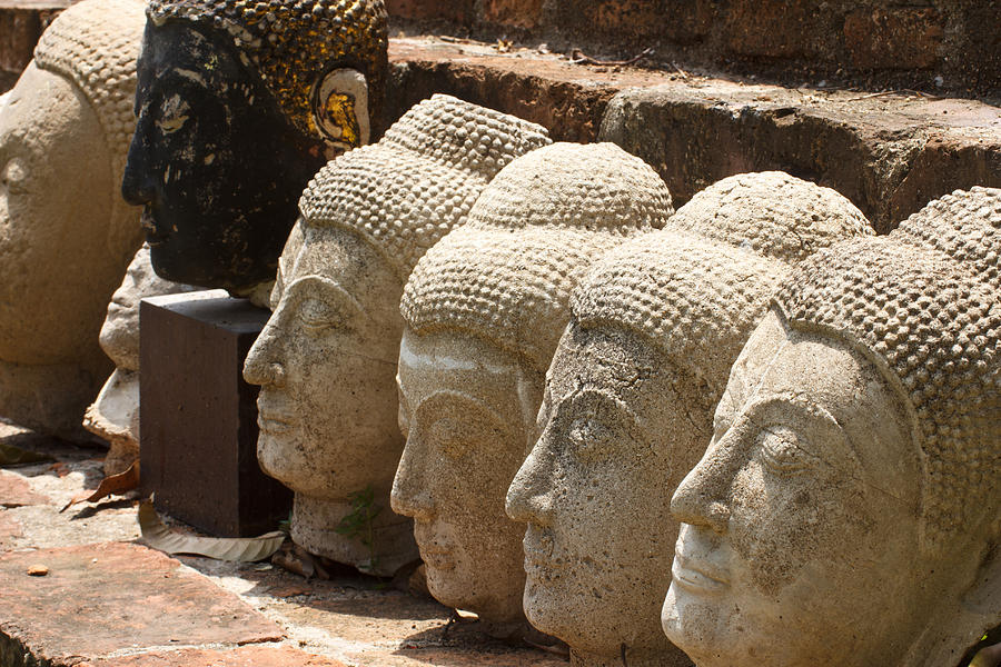 Asia Sculpture - buddha statue in Thailand by Thanawat  Wongsuwannathorn