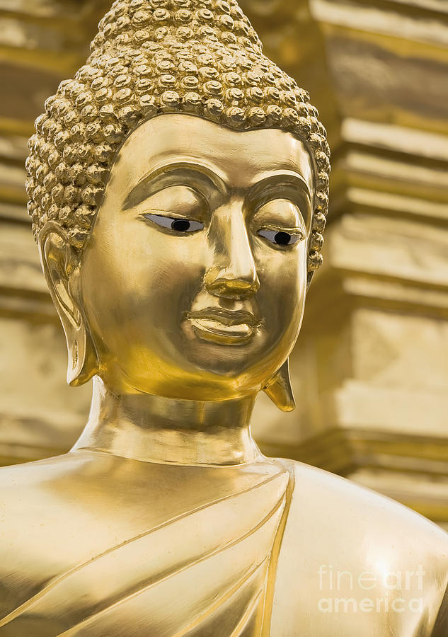Asia Photograph - Buddhas Statue by Roberto Morgenthaler