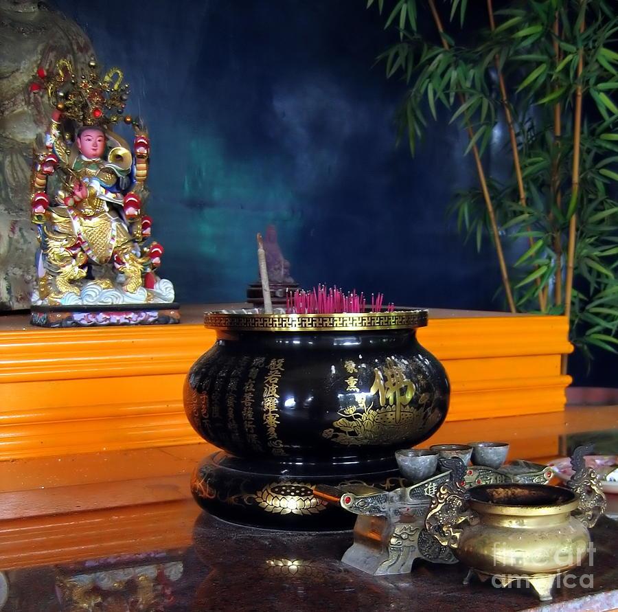 Chinese Photograph - Buddhist Altar by Yali Shi