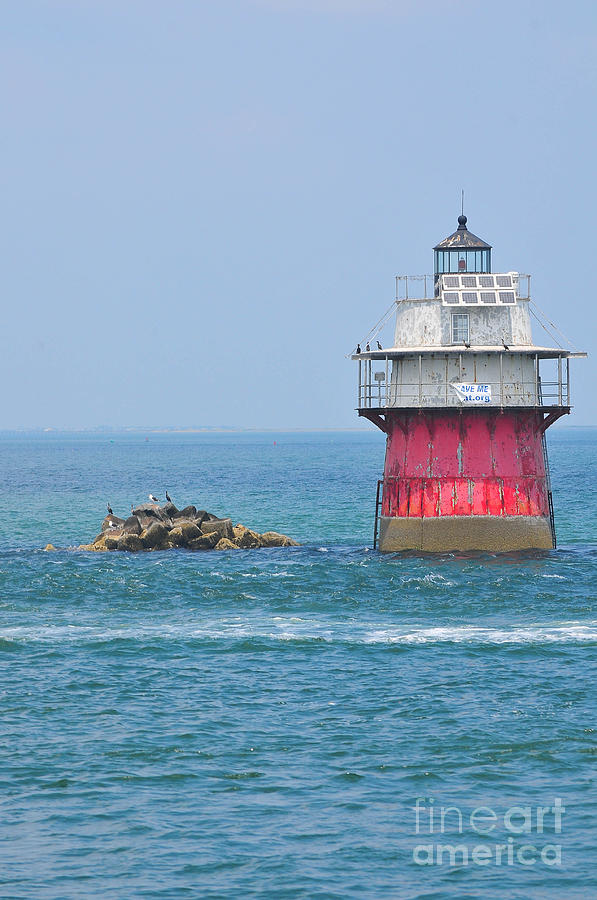 Plymouth Harbor Photograph - Bug Light by Catherine Reusch Daley