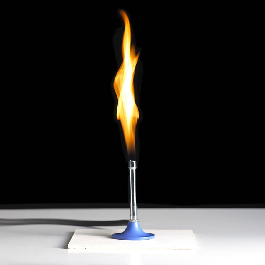 Bunsen Burner Flame Photograph by