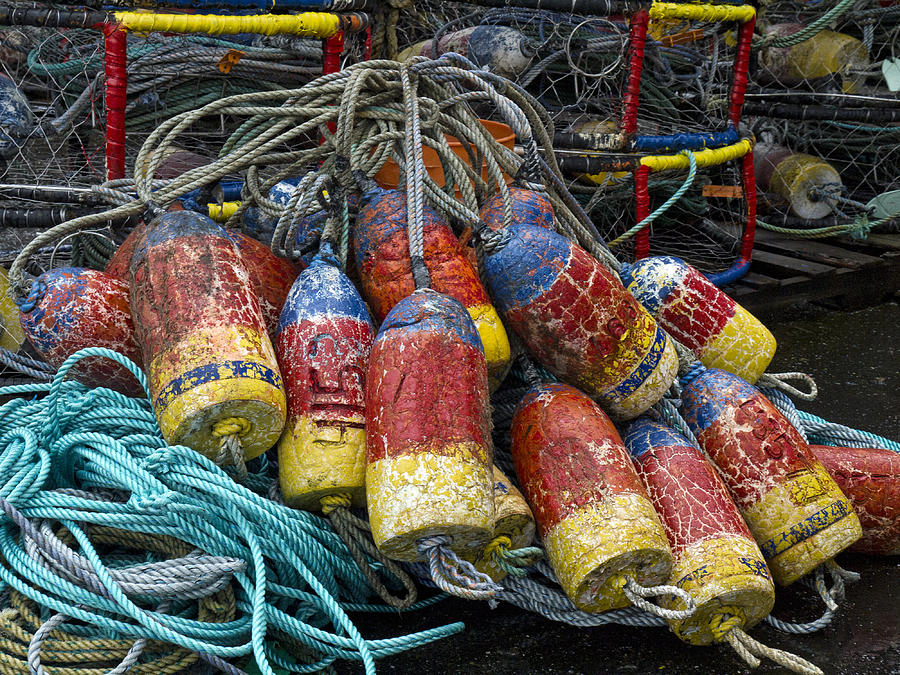 Fishing Photograph - Buoys And Crabpots On The Oregon Coast by Carol Leigh