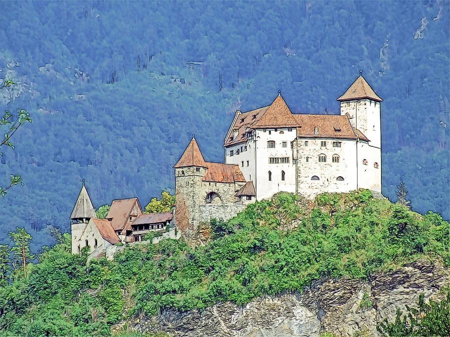 Europe Photograph - Burg Gutenberg Balzers Litchtenstein by Joseph Hendrix