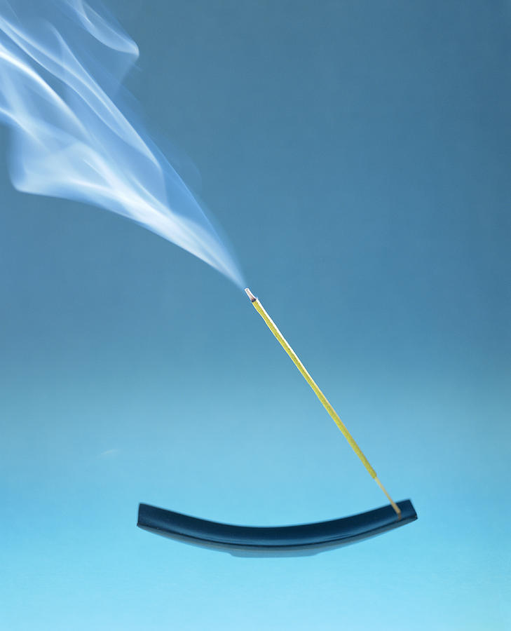Incense Photograph - Burning Incense by Lawrence Lawry