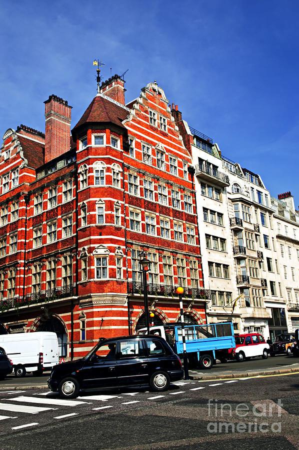 London Photograph - Busy Street Corner In London by Elena Elisseeva