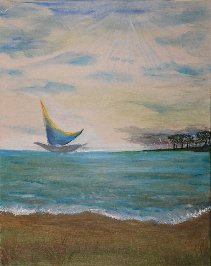 Butterfly Painting - Butterfly Sails by Tifanee  Petaja