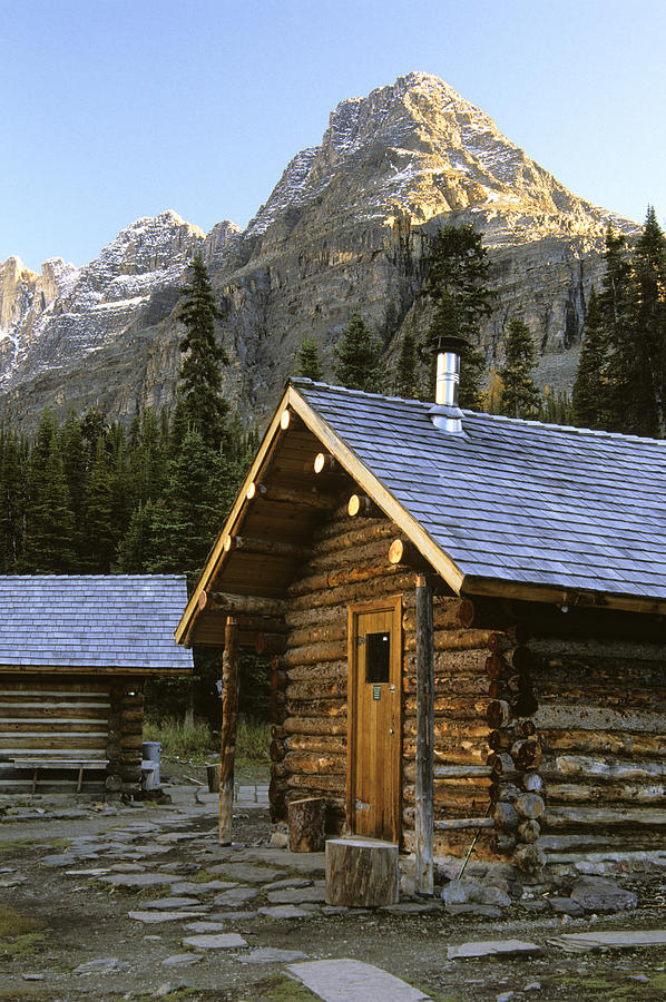 Cabins Photograph - Cabin In Yoho National Park, Lake by Ron Watts