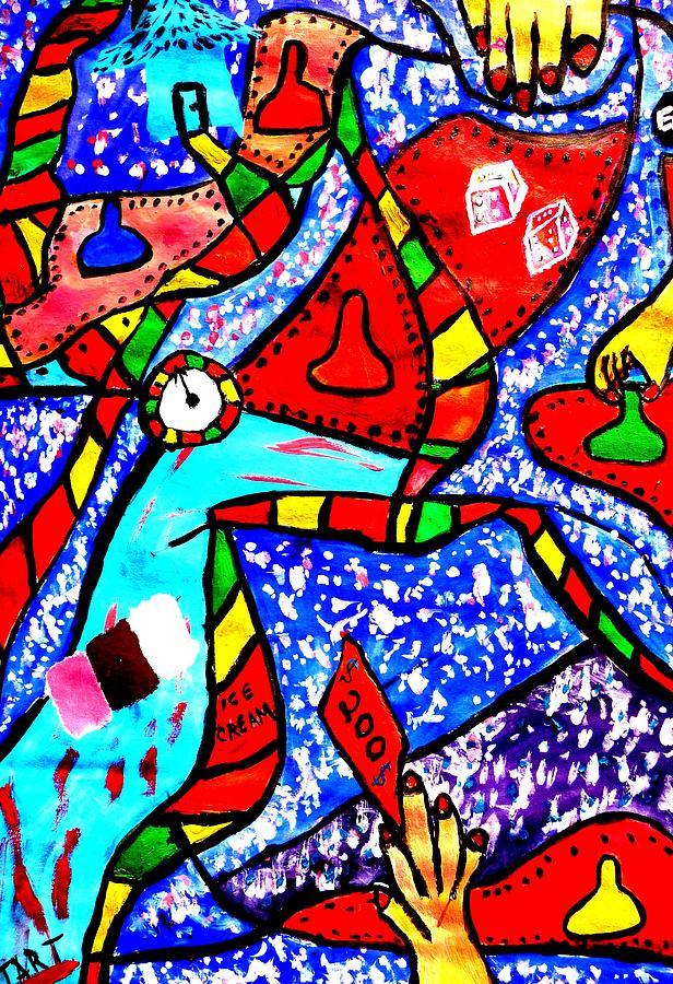 Candyland Painting - Candyland by Eliezer Sobel