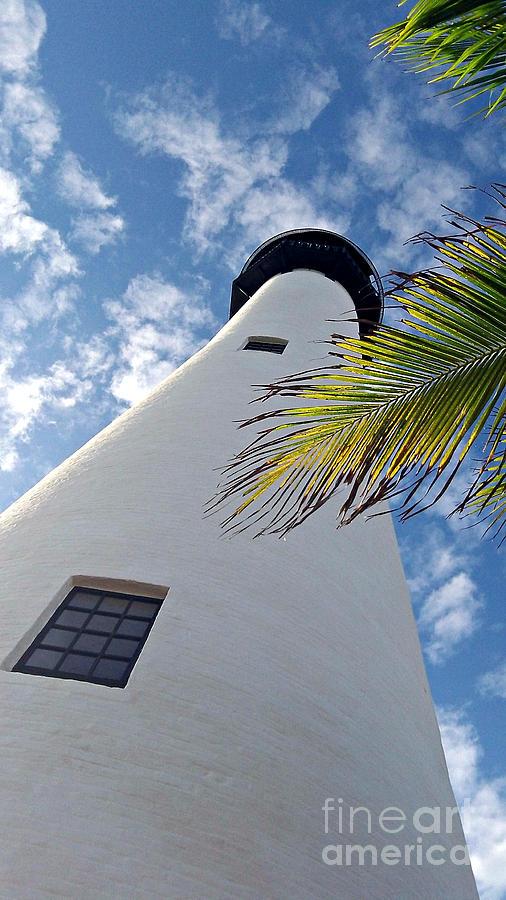 Cape Florida Photograph - Cape Florida Lighthouse by Tammy Chesney